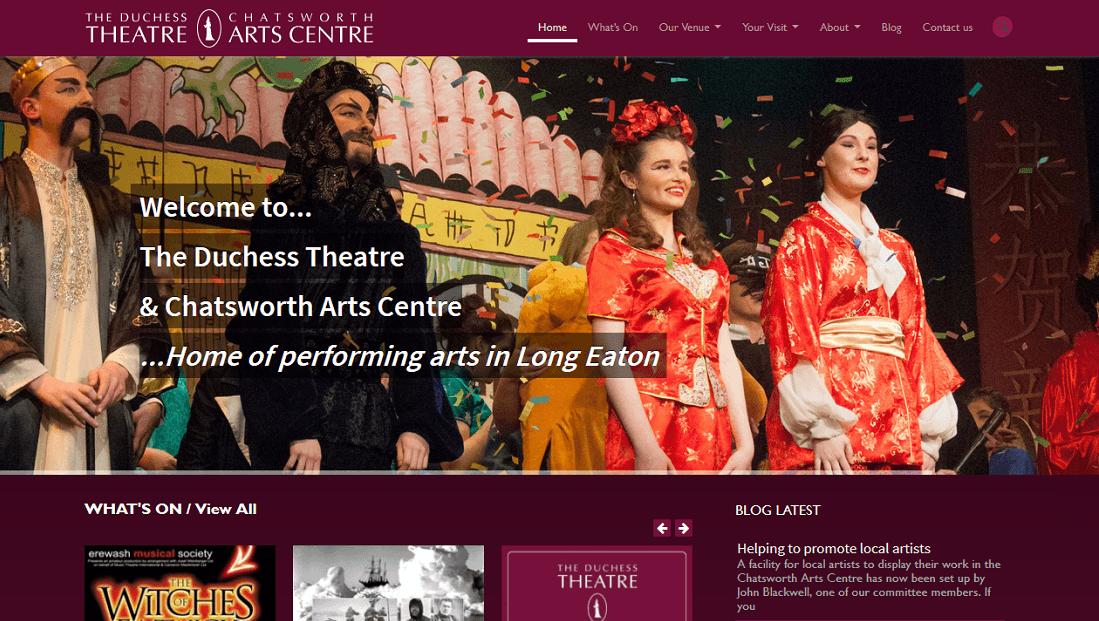 Duchess Theatre Website Long Eaton Nottingham