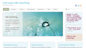 Live Love Life Coaching Website Nottingham