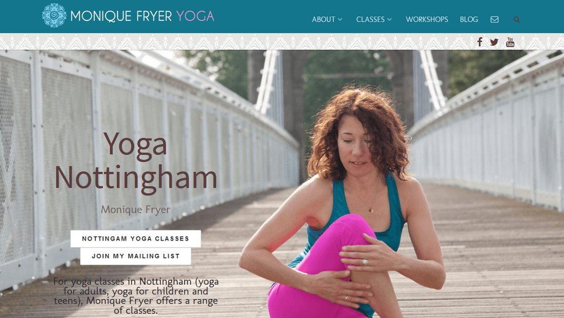 Monique Fryer Yoga Website Nottingham
