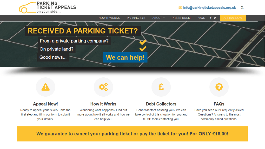 Parking Ticket Appeals Website Ilkeston Nottingham