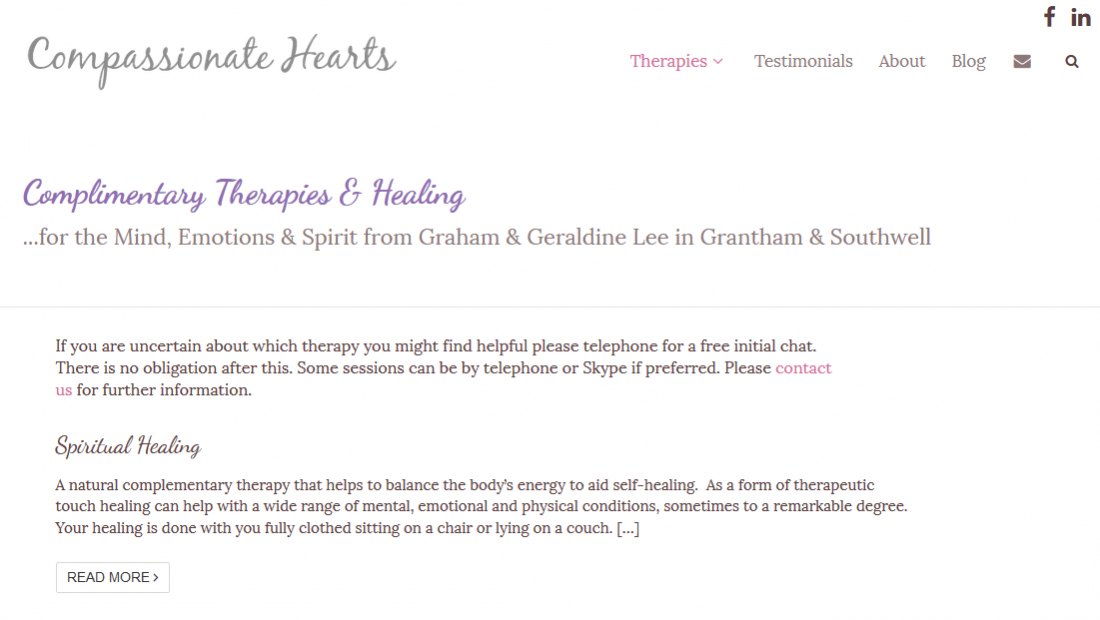 Therapists Websites - Compassionate Hearts Therapies