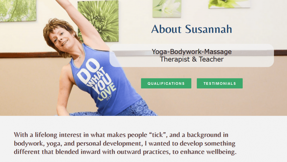 Yoga Website Design - About Body Mind Unwind
