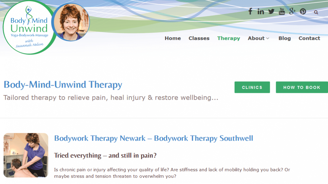 Yoga Website Design - Body Mind Unwind Therapy