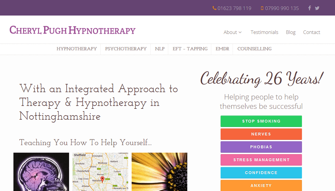 Hypnotherapy Website Design