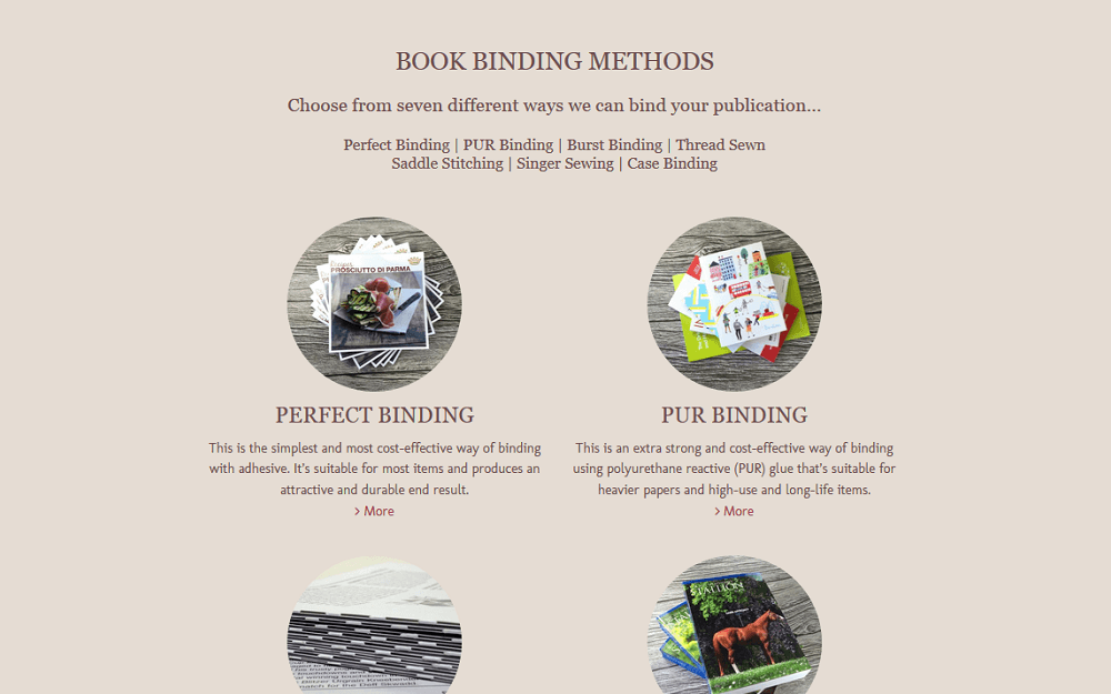 Allsopp Bookbinders Website Methods
